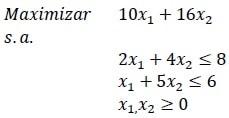 ejemplo costo reducido negativo método simplex